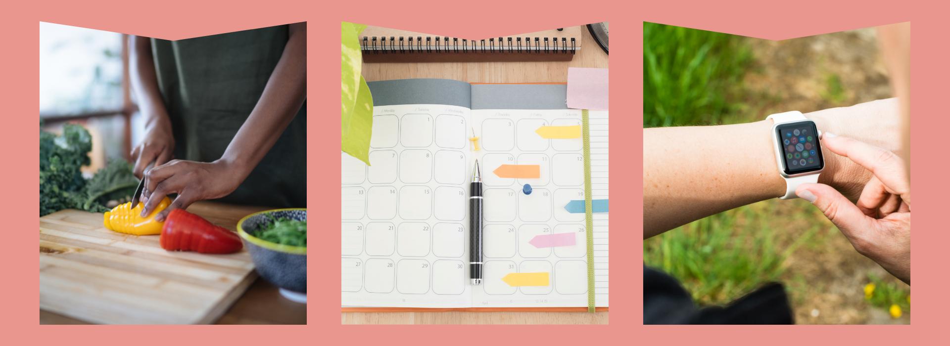 Cutting peppers, Daily Planner/Calendar, Smart watch