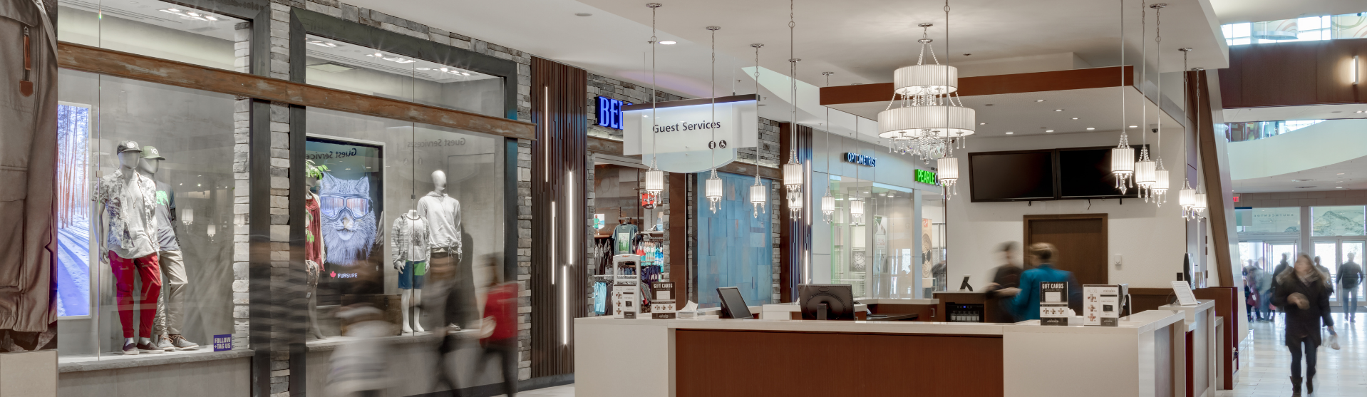 Shot of Guest Services kiosk
