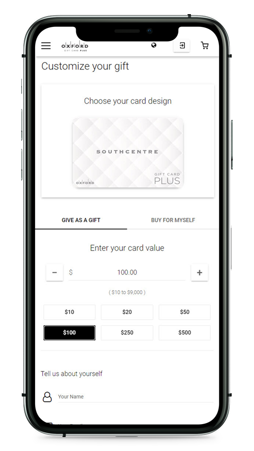 Purchasing an eGiftcard for Southcentre Mall