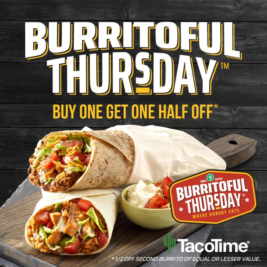 Chicken Burrito from Taco Time