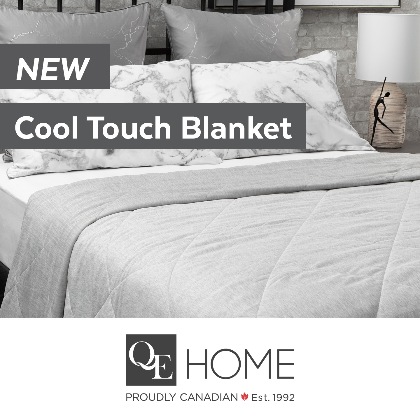 Grey quilted bedding from QE Home