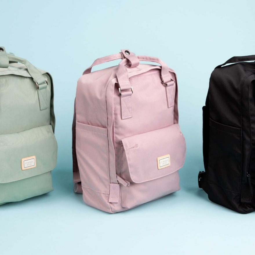 Multi-coloured backpacks from Bentley