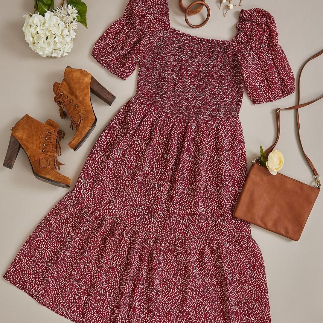 Suzy shirt red polka dress